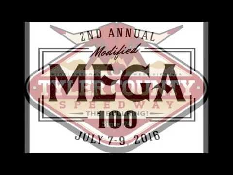 """Tyler County Speedway Renegades of Dirt Modifieds """"MEGA 100"""" 7-9-2016"""