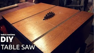 DIY table saw (part 1 - table)