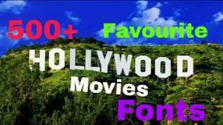 Download favourite movie fonts