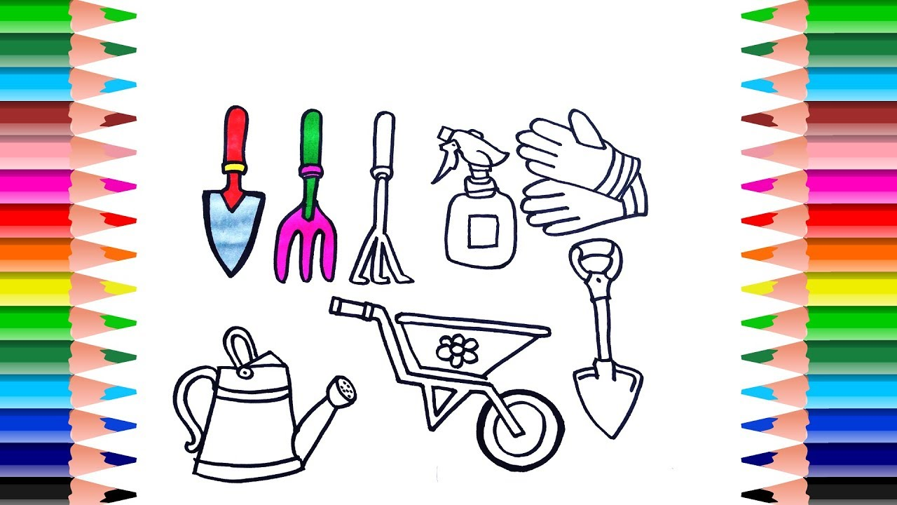 kids gardening tools coloring pages - photo#19