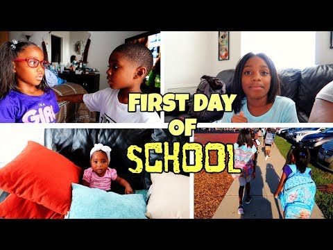BACK TO SCHOOL 2019 GRWM 4 CHILDREN | Black Family Vlogs