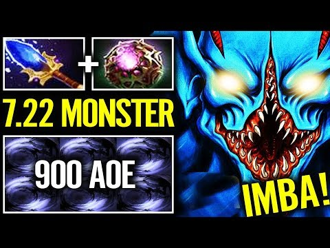 900 AOE 1st Skill?? NEW IMBA 7.22 Night Stalker Scepter Dota 2 By Iceiceice