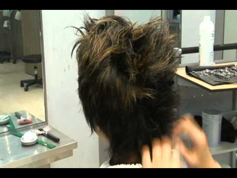 WAX HAIR,STYLING FOR A GUY WITH A MEDIUM,LONG HAIR (SWITCHSCISSORS) ,  YouTube