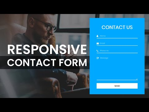 Responsive Contact Us Form Using HTML And CSS | Contact Form Design | Web Dev