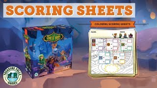 The Quest Kids Scoring Sheets | Family Fantasy Board Game