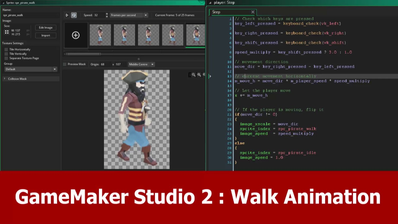 Game Maker Studio 2 Tutorial: Walk Animation
