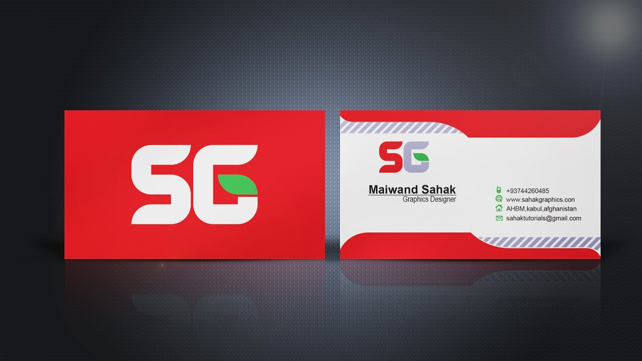 Business Card Design In Illustrator (by sahak graphics ) - YouTube