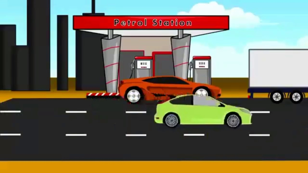 Kartun Mobil Animasi Anak Mobil TRUK Dan BALAP Isi Bensin