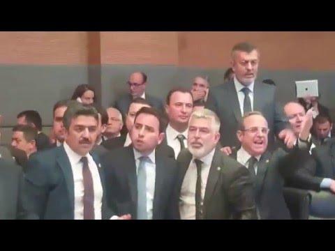 Turkey parliament debate and fight
