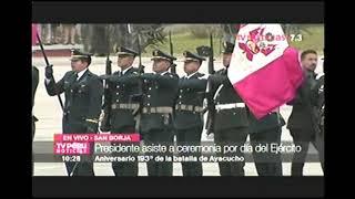 CEREMONIA POR EL DIA DEL EJERCITO EN EL CG -  TV PERU 7 09 DIC 17