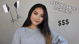 AFFORDABLE LIGHTING FOR YOUTUBE VIDEOS // BEGINNER FRIENDLY