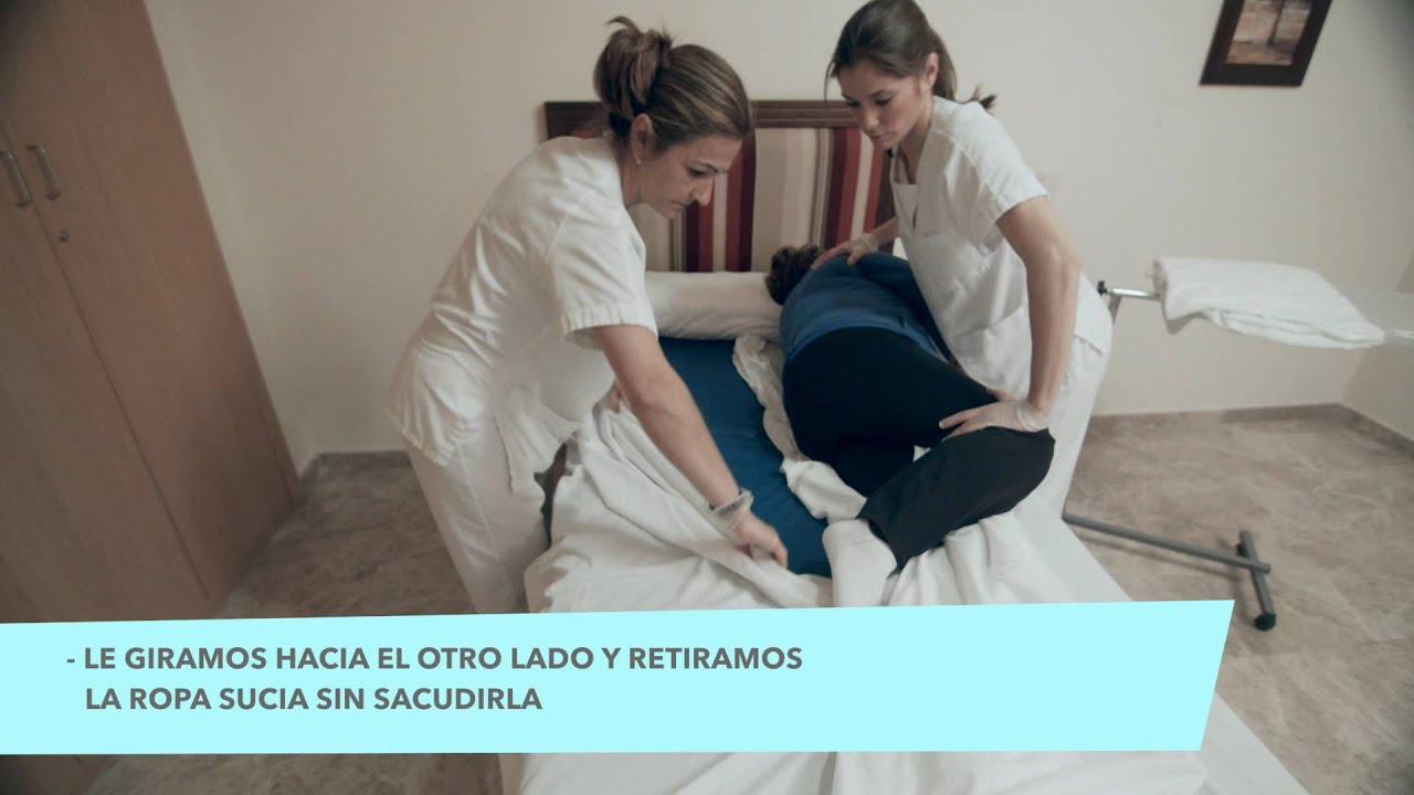 tutoriales para cuidadores c mo hacer una cama ocupada