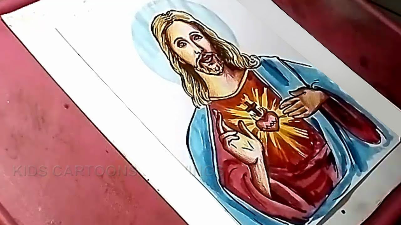 How to Draw Jesus Christ Drawing for Kids