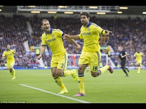 Goal by Diego Costa  Chelsea vs Everton 30/08/2014 HD Youtube