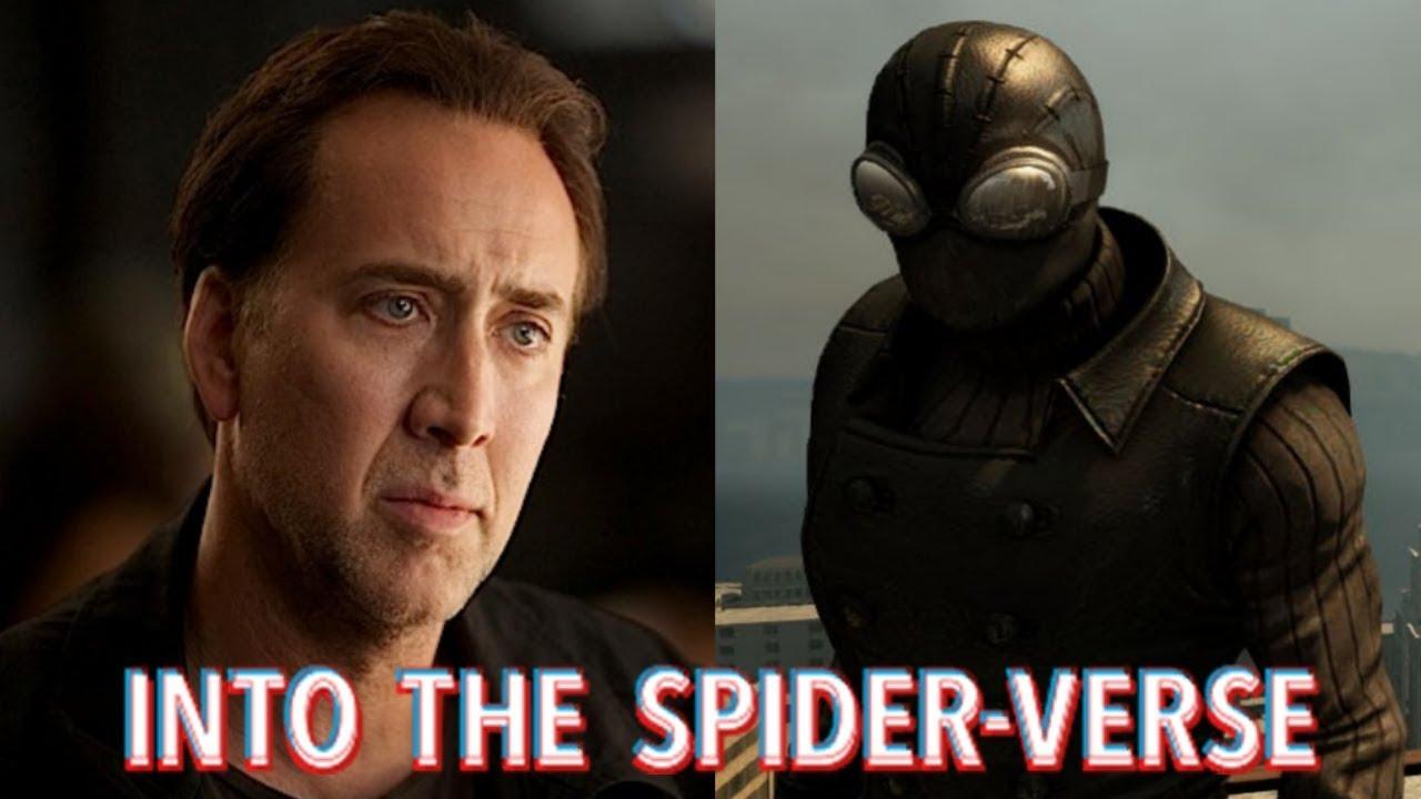 nicolas cage to voice spider-man noir in 'spider-man: into the