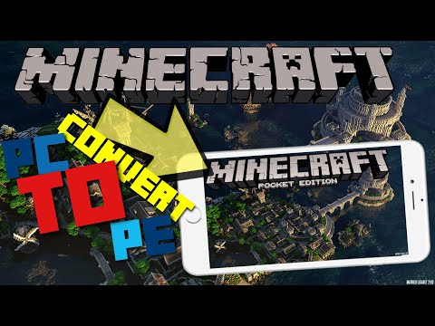 HOW To CONVERT Maps FROM Minecraft Java Edition To Minecraft (PE) HOW To PORT Maps!!!!
