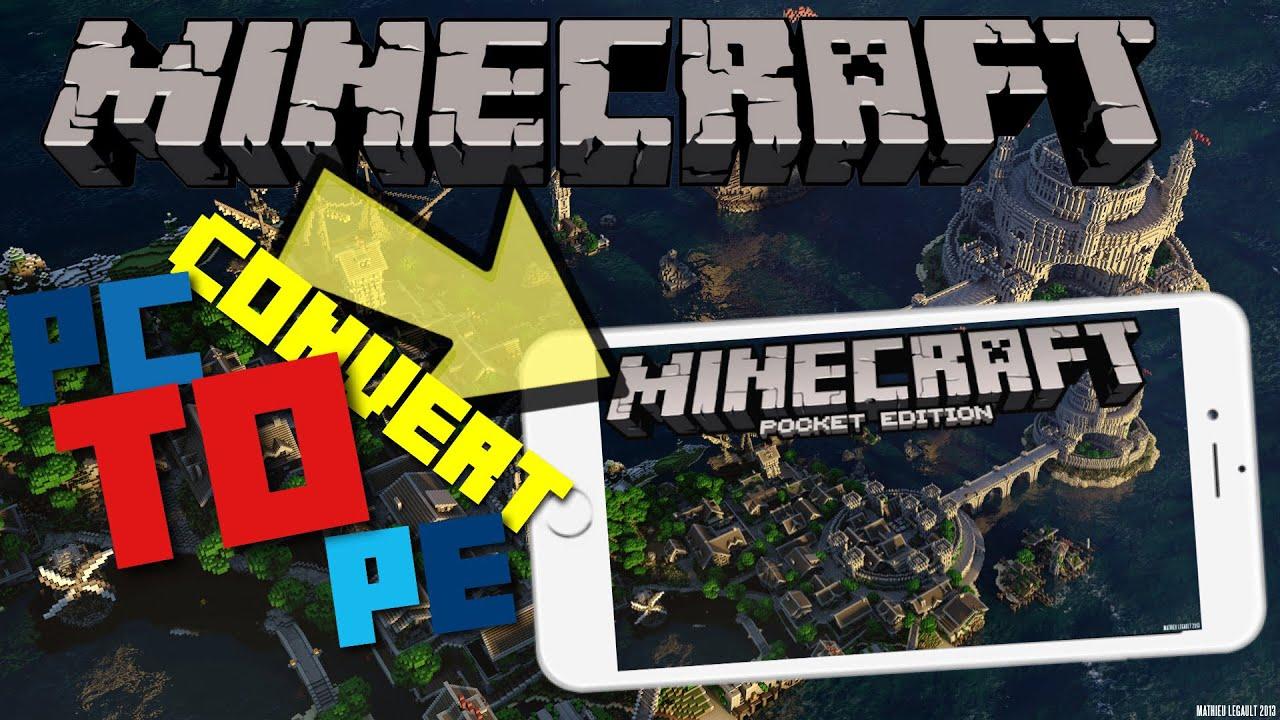 HOW To CONVERT Maps FROM Minecraft Java Edition To Minecraft PE - Minecraft fruhere version spielen