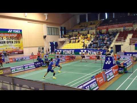 Trận đôi nam giữa Liu Junhui/Liu Yuchen vs  JUN Bong Chan/Kim Dae Eun
