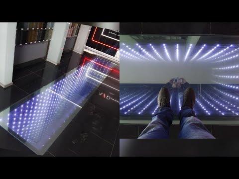 Beautiful стеклянный пол с подсветкой 3D с эффектом бесконечности . Infinity Mirror  Floor   YouTube