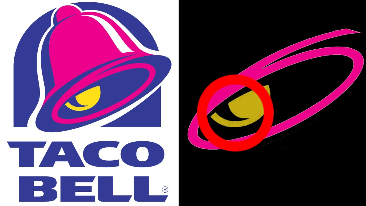Taco Bell Logo wow!! animation of hidden occult symbolism in taco bell logo