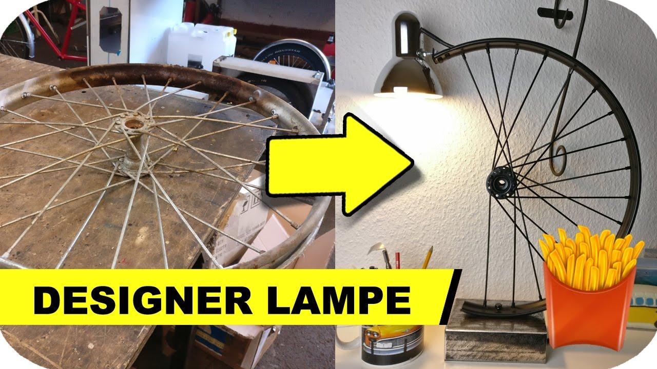 schreibtischlampe selber bauen aus schrott youtube. Black Bedroom Furniture Sets. Home Design Ideas