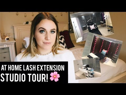 STUDIO TOUR || MY AT HOME LASH BUSINESS!