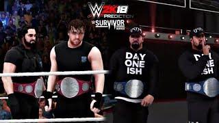 WWE SURVIVOR SERIES 2017 - The Usos vs Rollins & Ambrose [WWE 2K18 PREDICTION]