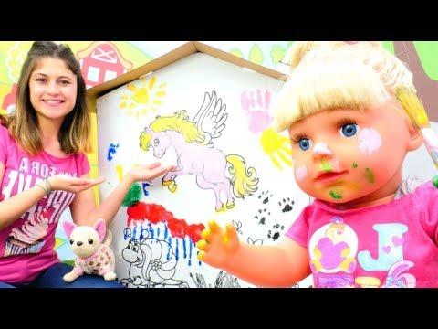 Ayşe ve büyüyen Gül ile en izlenen videolar! Bebek bakma oyunları - seçkin bölümler!
