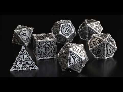 Pathfinder & Q-workshop Metal RPG Dice Set