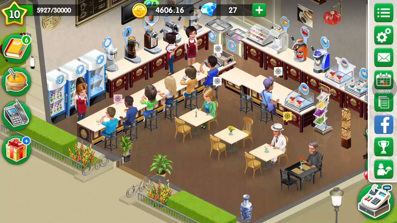 my cafe recipes stories 11 level 10 already upgrade chocolate 3 stars game world for kids. Black Bedroom Furniture Sets. Home Design Ideas