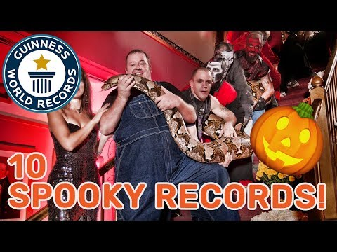 10 Spooky Guinness World Records Titles! Largest Snake, Loudest Scream and more!
