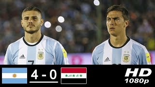Iraq 0-1 Argentina - Lautaro Martinez goal for Argentina