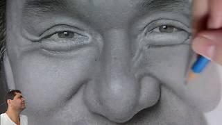 Desenhando  Jackie Chan, Drawing, Dibujando ..