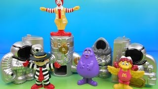 1998 McDONALD'S McSPACE SET OF 4 HAPPY MEAL KIDS TOYS VIDEO REVIEW