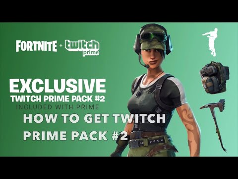 HOW TO GET THE NEW FREE FORTNITE TWITCH PRIME LOOT PACK 2!