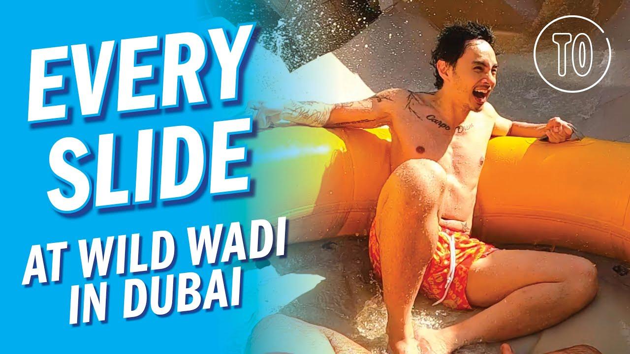 Wild Wadi Dubai: EVERY WATER SLIDE (POV)