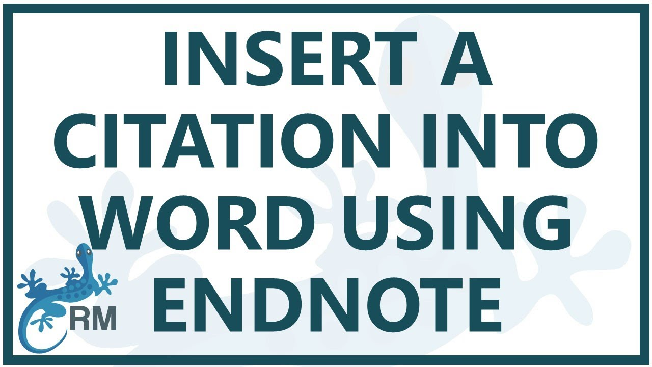 endnote citation  how to insert a citation into word using
