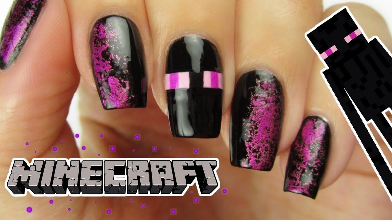 Minecraft Enderman Nails
