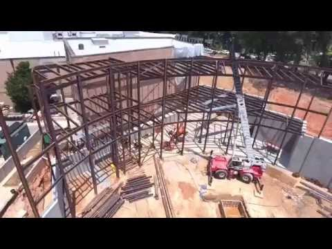 Construction progress of Cyclorama at the Atlanta History Center