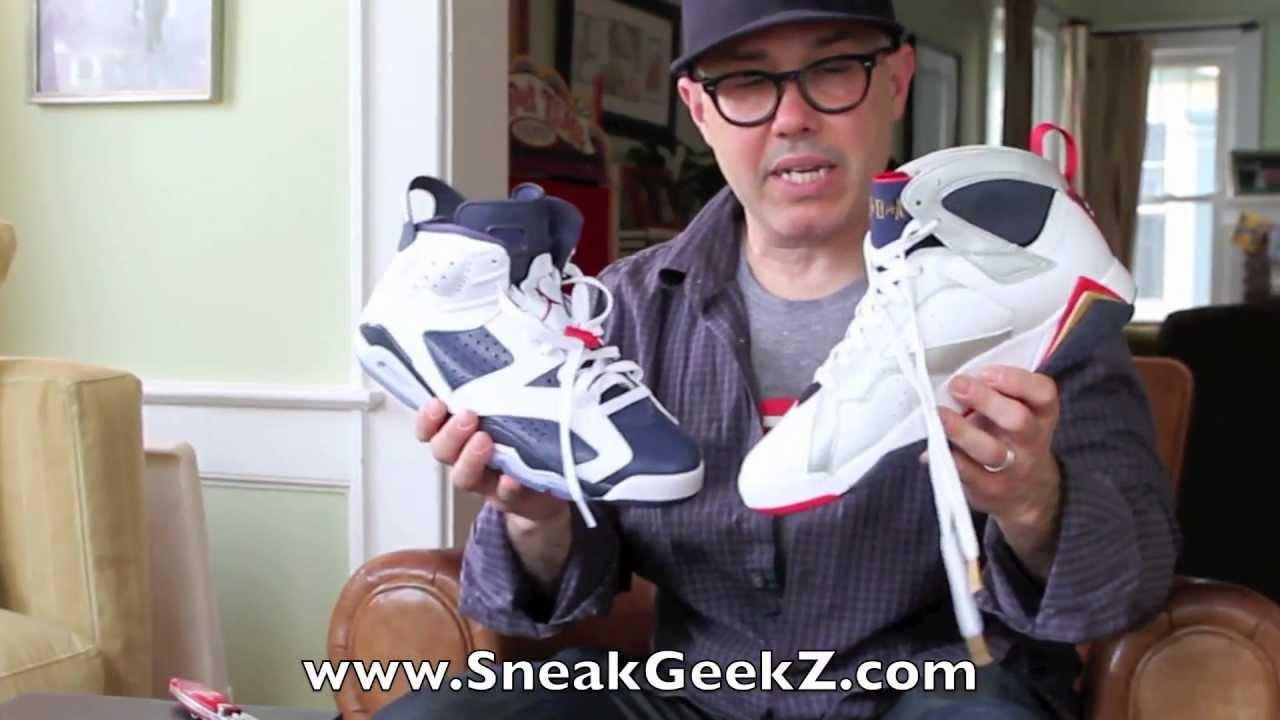 f6a2b9c137ec41 Nike Air Jordan 7 VII Retro Olympic 2012 - YouTube
