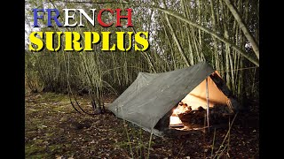 Heavy Rain | Wİld Camping In a Marshland / Wetland | French F1 Canvas Military Tent