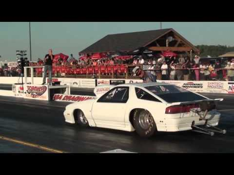 Armdrop Dodge Daytona takes on Drag Bike - YouTube