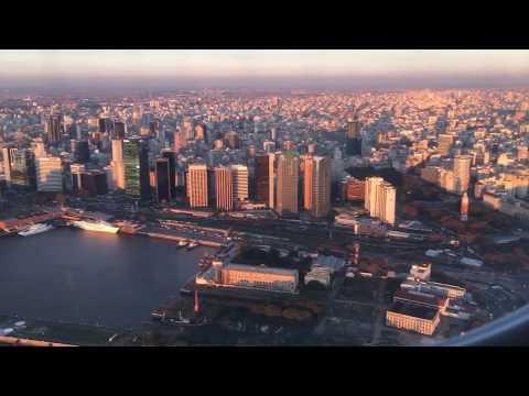 Embraer 190 Landing in Buenos Aires AEP - Aerolineas Argentinas