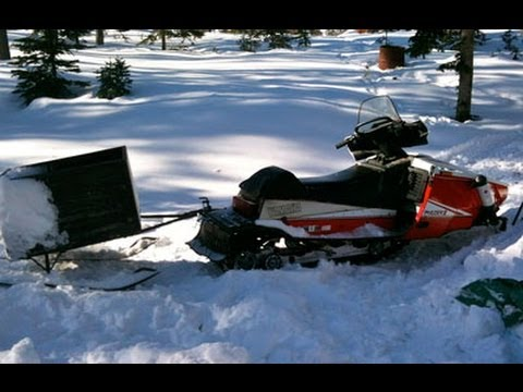 Redneck Hitch For Snowmobile Youtube