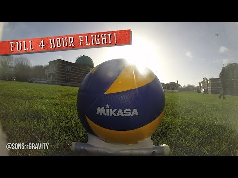 FIRST VOLLEYBALL IN SPACE, (Full 4 hour flight)