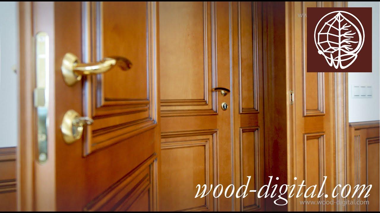 Дверь Гармошка деревянная впишется в интерьер - YouTube