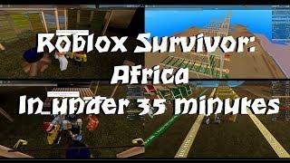 Roblox Survivor Afrika in weniger als 35 Min.