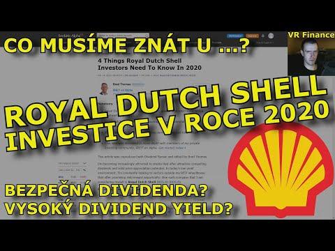Investice do Royal Dutch Shell v roce 2020? Co musí investor znát?