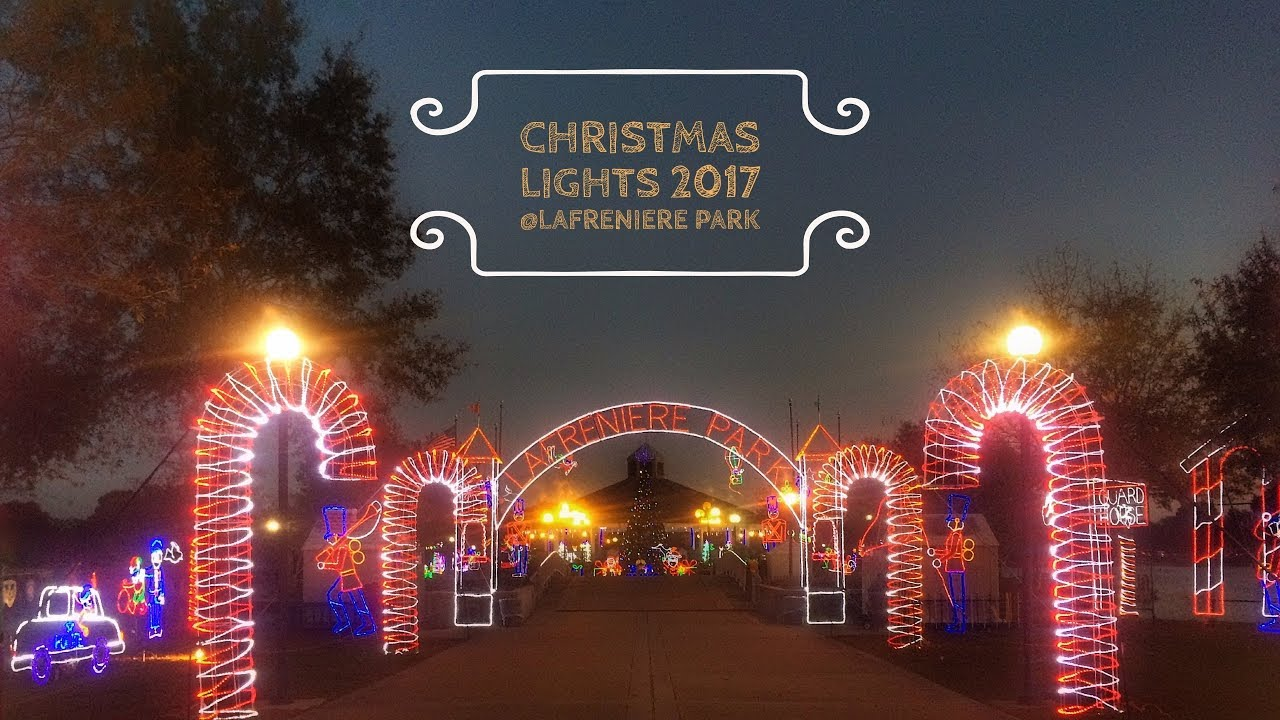 2017 christmas lights at lafreniere park metairie louisiana