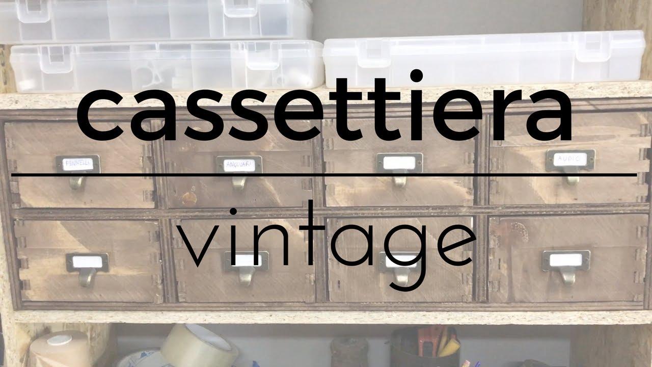 Mini Cassettiera Fai Da Te fai da te - cassettiera vintage porta minuteria